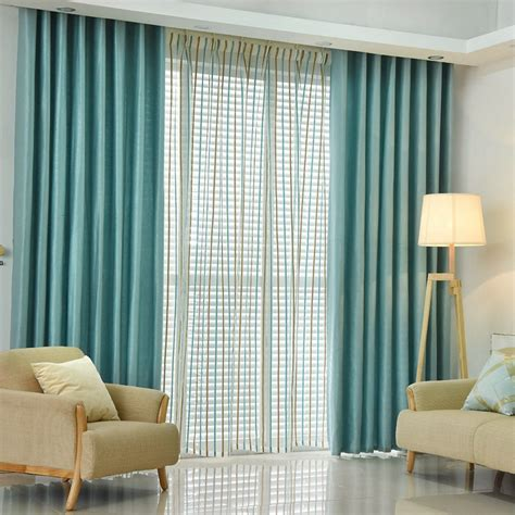 plain dyed blackout curtain kitchen door window curtains