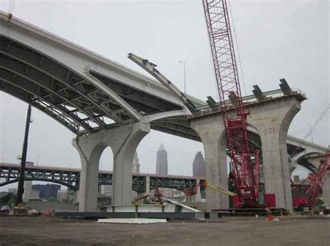 Plain Dealer Metro Section by Update On Inner Belt Bridge One Year After Split Second Blowup Of Span Cleveland