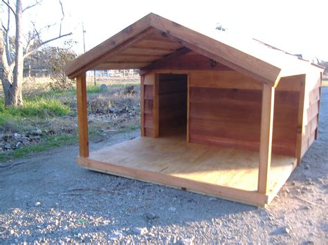 Custom Cedar Dog House With Porch Custom Ac Heated
