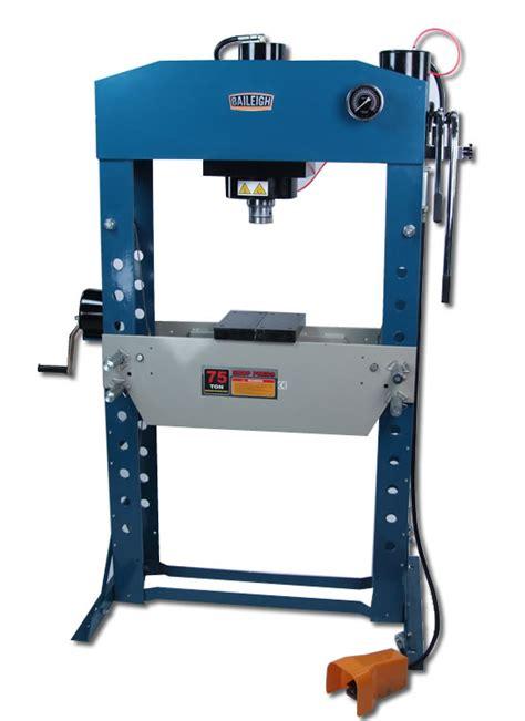 pneumatic shop press hydraulic press hsp75a