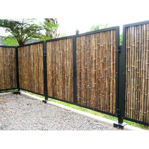 backyard bamboo privacy fence house backyards