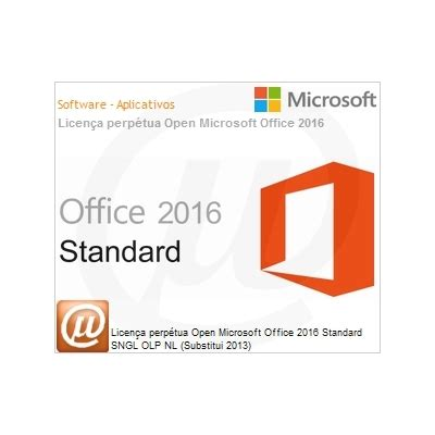 Microsoft Office Standard Olp officestd 2016 sngl olp nl