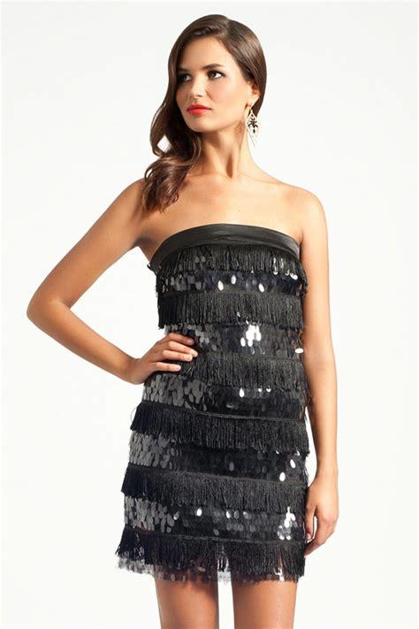 mistress black flapper dress embellished