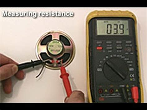 check capacitor continuity how to use a multimeter via the stage