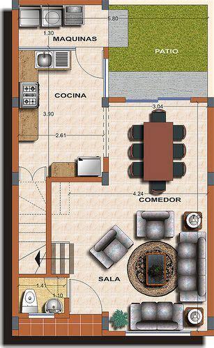 casa tipo  planta  architecture planos de casas