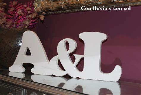 con lluvia y con sol letras decorativas de madera a l