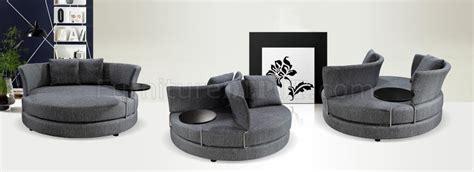 modern circular couch grey fabric modern adjustable circular sofa w end table