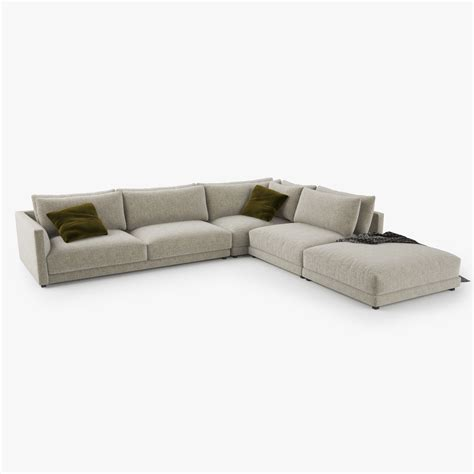 poliform couch poliform bristol sofa 3d model 3d model max obj 3ds fbx