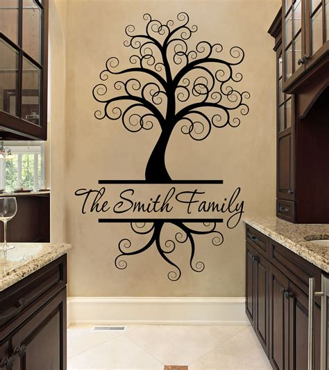 tree wall decal personalized  family