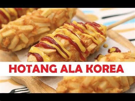 cara membuat pancake goreng ala korea cara membuat hotdog kentang hotang ala korea youtube