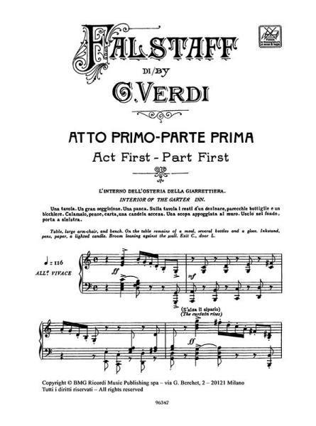 0040537129 partitions classique ricordi verdi g partitions verdi g falstaff chant et piano piano