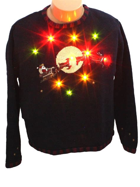 Womens Light Up Ugly Christmas Sweater Christopher Banks Sweater Light Up