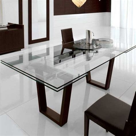 Glass Dining Room Tables With Extensions Kasala Modern Bold Glass Extension Dining Table