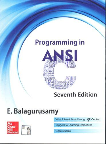 download free programming in ansi c by balaguruswamy pdf object oriented programming in ansi c by