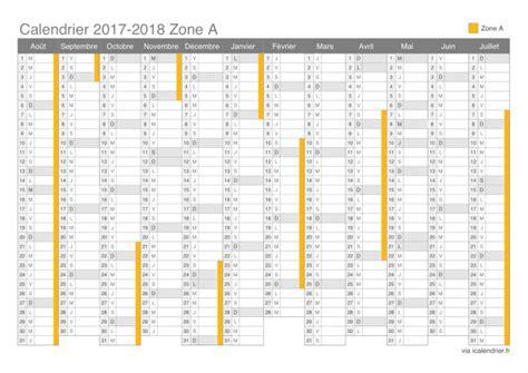 Calendrier 2018 Avec Vacances Scolaires Vacances Scolaires 2017 2018 Zone A Calendrier Et Dates