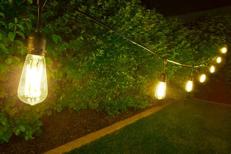 Patio String Lights Led Outdoor Led Decorative String Lights 10 Pendant Sockets Fits E26 Bulbs Empty Bases