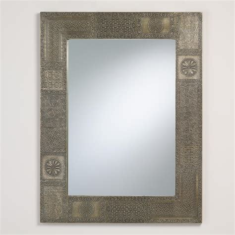 Patchwork Mirror - pewter patchwork mirror world market