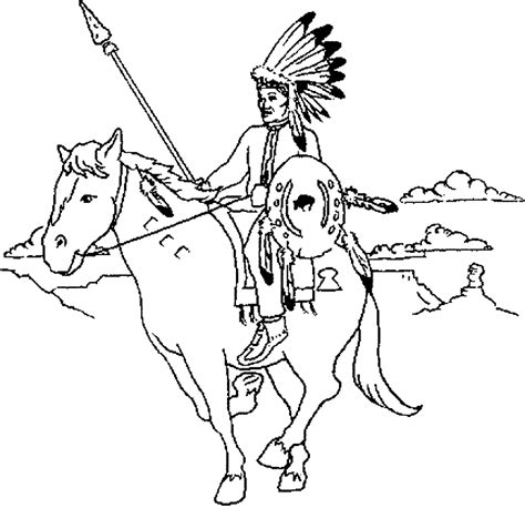 indian chief coloring page free coloring pages of indian chief apache