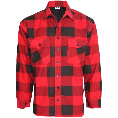Quilted Work Shirts by Mens Check Lumberjack Padded Shirt Thick Quilted Warm