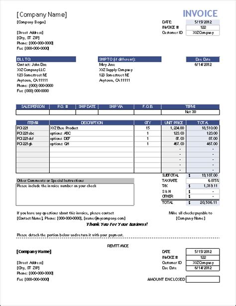 sale or return invoice template vertex42 invoice assistant invoice manager for excel