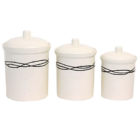 western kitchen canister sets barbwire rustic ranch western decor kitchen canister set