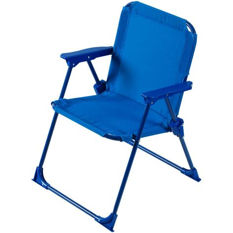 Child Patio Chair Two Tone Blue Foldaway Steel Frame Garden Patio Deck Chair New