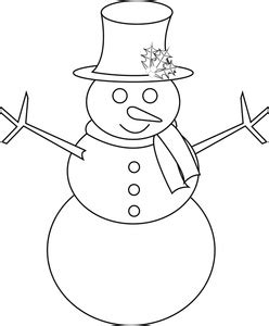 line drawing christmas clip art snowman clipart free black and white clipground