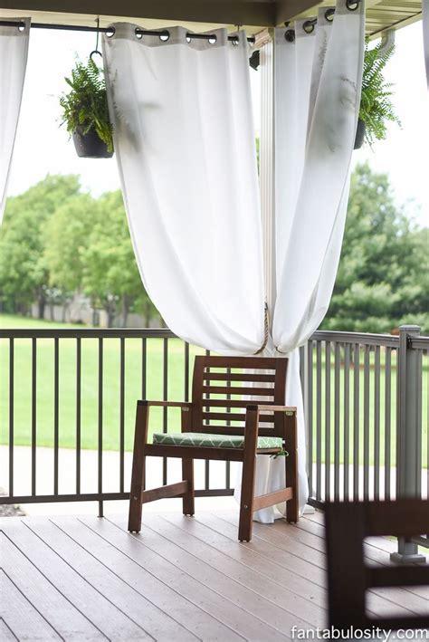 ideas  patio curtains  pinterest outdoor curtains curtains  outdoor patios