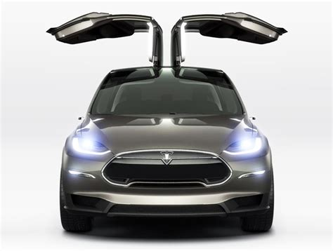 Electric Car Tesla Tesla Unveils The Model X The World S All Electric