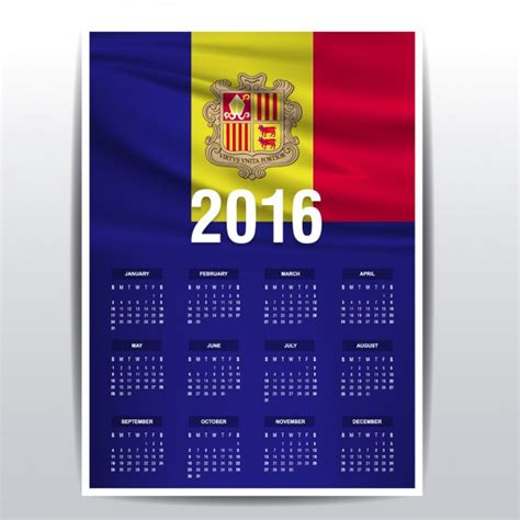 Moldova Calendario 2018 Calendario De 2016 De Moldavia Descargar Vectores Gratis