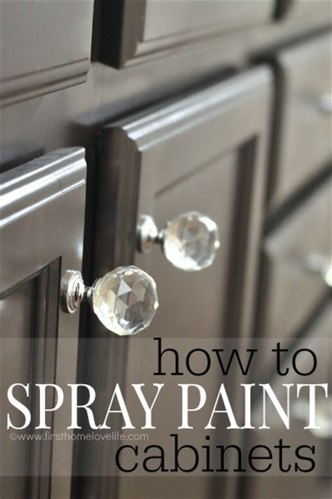 can you spray paint cabinets home