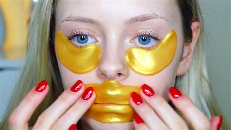 Masker Bibir Masker Bibir Gold Gold Lip Mask Lip Mask Gold do these work 24k gold eye lip mask