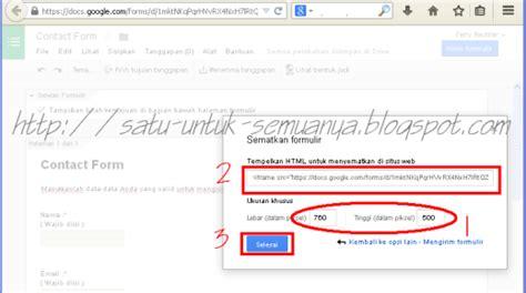 membuat html formulir menggunakan formulir google dokumen untuk membuat contact