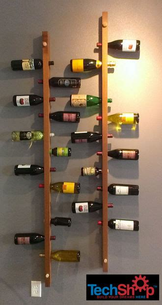 Dining Room Chalkboard wall mounted vertical wood wine rack