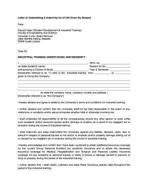 indemnity letter forms and templates fillable printable sles for pdf word pdffiller