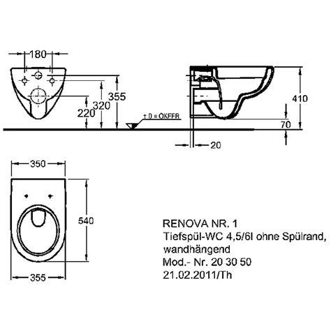 wand wc keramag renova nr 1 sp 252 lrandloses wand wc set mit wc