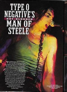 Playgirl Peter Steele Type O Negative August 1995 Pete   pete his sisters green man pinterest best peter