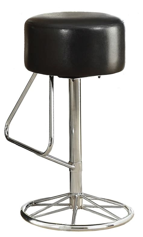 swivel bar stool chrome black