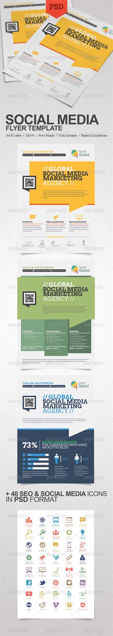 print media templates social media marketing flyer print ad templates