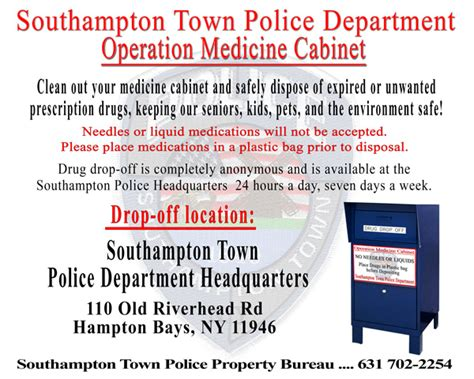 Operation Medicine Cabinet by Southton Ny Official Website