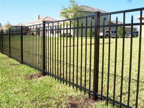 metal fence aluminum fence