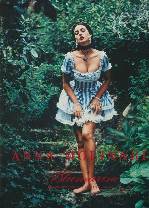 monica bellucci helmut newton blumarine caign ss 1993 monica bellucci carla bruni