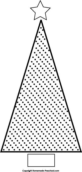 triangle christmas tree pattern triangle tree clipart black and white clipartxtras