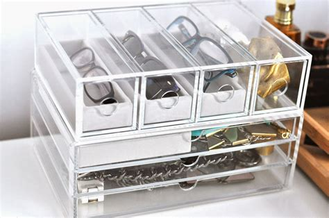 Muji Clear Drawers by Consuming Jewellery Glasses Storage Ft Muji
