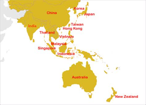 asia pacific map with country names bible league international where we serve