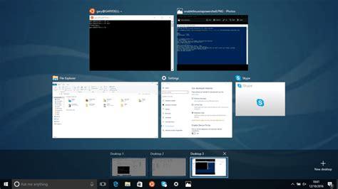 windows 10 virtual desktop tutorial how to use linux style virtual workspaces in windows 10