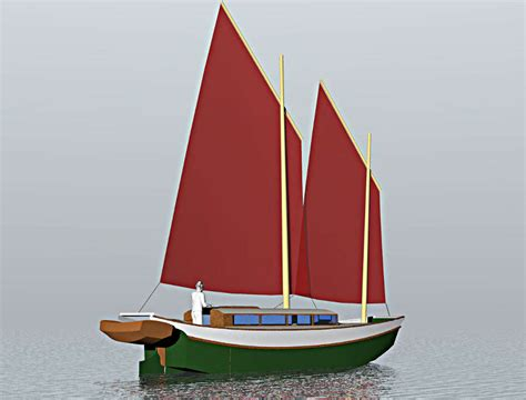 scow plans laura cove 28 sailing scow small boat designs by tad
