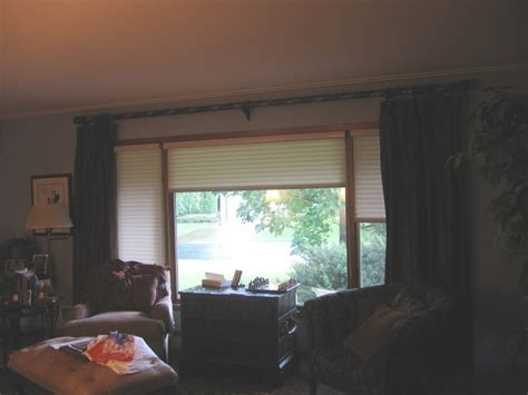 picture window treatments window treatments what to do with 4 windows in a row