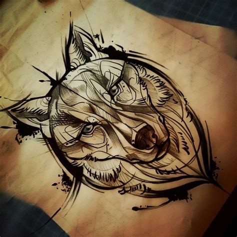 tattoo cartoon wolf great animated wolf muzzle tattoo design tattooimages biz