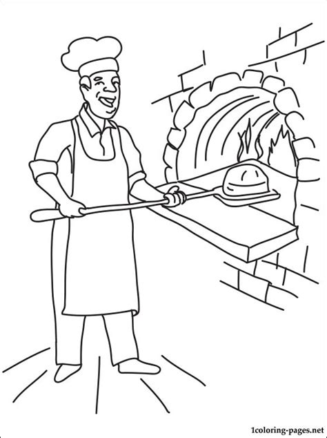 baker coloring page coloring pages